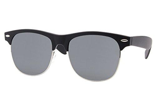 Cheapass Sunglasses Clubmaster Noir Brun Rétro Femmes Hommes Noir