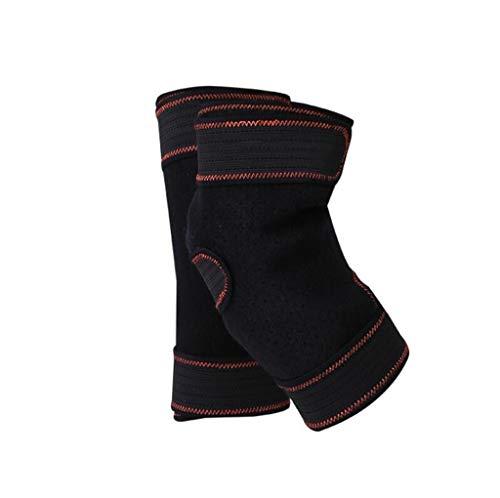 Wge 2 pezzi sport all'aria aperta traspirante ginocchiere per l'artrite dolore alle articolazioni, unisex caldo al ginocchio