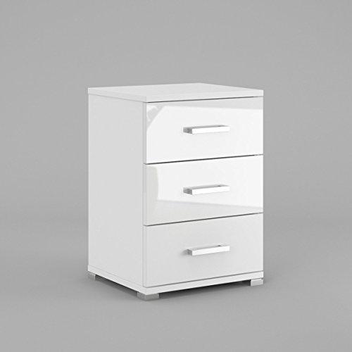 neli-n3-table-de-chevet-table-de-nuit-3-tiroirs-le-corps-blanc-mat-le-front-blanc-haute-brillance
