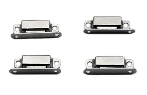 4x 35mm Edelstahl Magnet Schnäpper Türmagnet Möbelmagnet Magnetverschluß Türschnäpper Haltemagnet (Versand aus Deutschland)