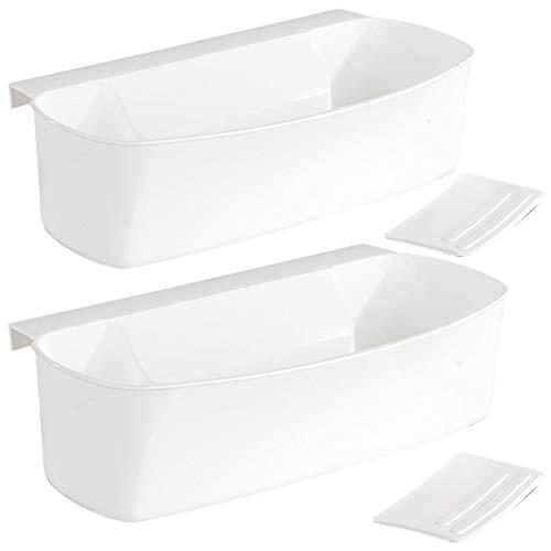 Rosenstein & Söhne Auffangschale Küche: 2er-Set Auffangschale für Küchenabfälle, mit Spachtel (Abfall Schubladenbox)