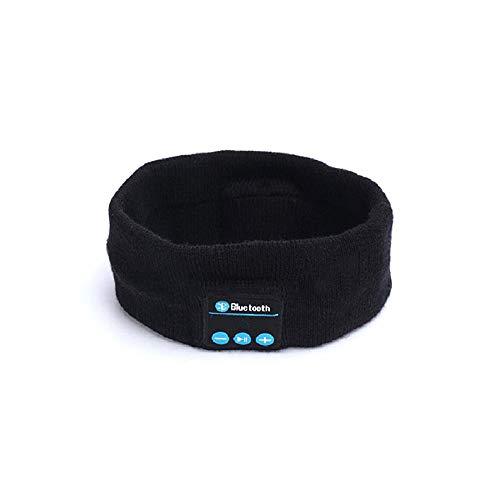 SENCILLO Waschbar Wireless Bluetooth Headset Kopfhörer Freisprecheinrichtungen Musik Jogging Stirnband Headwrap Cap für Sport Übung Traning (Black)