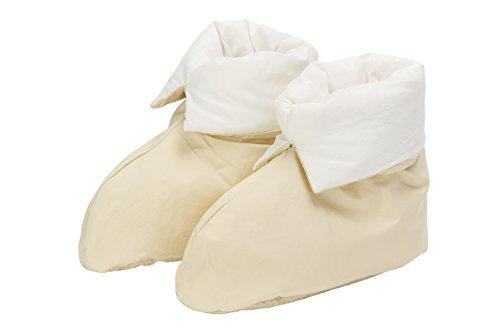 Pikolin Home - Zapatillas de pluma para casa, 100% algodón, unisex, talla 41/42/43, color beige (Todas las medidas)