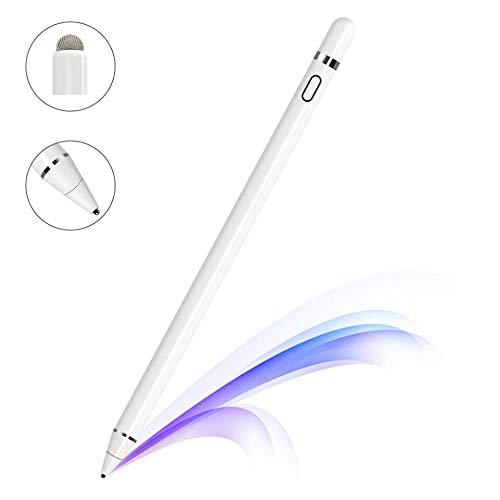 Stylus Stift für Apple ipad,Zspeed Wiederaufladbar Touchstift mit 1,5 mm Extrem Feiner Spitze, Aktiver Stylus Stift für iPads/Tablets/iPhones/Samsung/Lenovo/LG&HTC mit Austauschbarer Kappe (Stylus Ipad Stift)