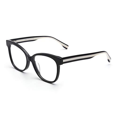 JIM HALO Federscharnier Nicht Verschreibung Brillen Oversize Gläser Damen Herren Schwarz