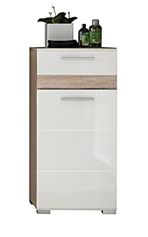 Furnline 1318-802-96 High Gloss Bathroom Side Cabinet Set One,
