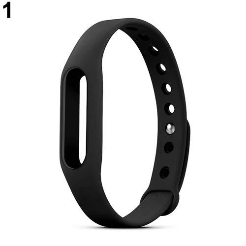 AchidistviQ Ersatz-Silikon-Armband-Armband-Armband für Xiaomi Mi Band 1 1S Black