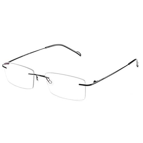 Cyxus Blaulichtfilter Brille Randlose, Anti-Blaulicht Brille 100% Titan - Ultraleicht, Anti-UV, Anti-Strahlung, Augenmüdigkeit für Damen und Herren