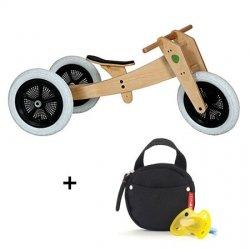 Preisvergleich Produktbild Skip Hop Wishbone Bike - 3in1 Laufrad inkl. Schnullertasche,  schwarz