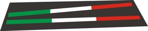 Designstudio Fritsche - Adesivo per targa dell'auto, bandiera italiana, 2 pezzi, adatto per la pubblicità di autosaloni