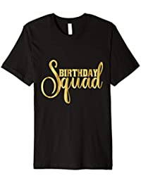Geburtstag Squad Shirt Girly Gold Besties Crew Drunk
