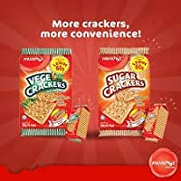 Munchy's Sugar Crackers 300gm & Munchy's Vege Crackers 390gm (Pack of 2)