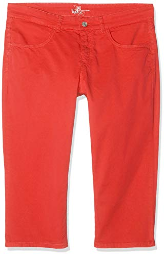 MAC Jeans Damen Capri Summer clean Shorts, Rot (Chili PPT 891r), W28(Herstellergröße: 36/19)