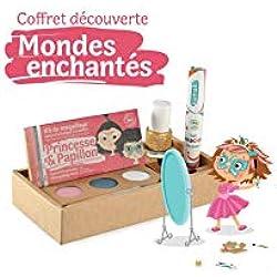 namaki CD2 - Cofanetto per travestimenti, per bambini, unisex, colore: Rosa/Turchese/Bianco/Oro