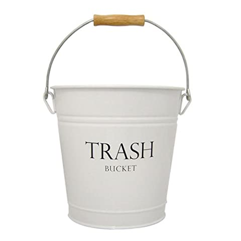 InterDesign Pail Wastebasket Trash Can - White