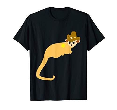 Cowboy Kinkajou Rancher Wickelbär Honigbär Kostüm T-Shirt