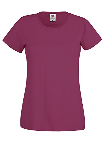 Fruit of the Loom Ladyfit Original-T-Shirt - 21 Farben/XS-2XL White