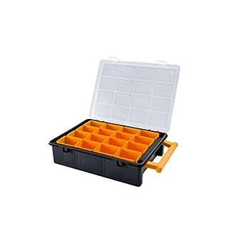 Sortimentskasten mit 16 Einzelbehälter Sortierbox Setzkasten Sor