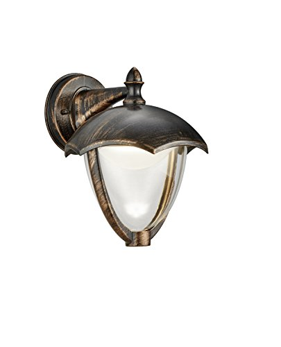 Trio Gracht Aplique de Exterior LED, 6 W, Oxido