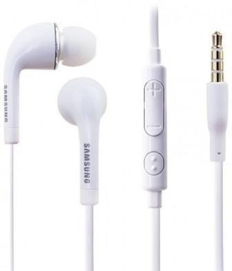 Original Samsung Headset in Weiss für GALAXY A5 SM-A500F InEar In-Ear Kopfhörer Ohrstöpsel 3,5mm Stecker Stereo Sound SAMHW6 Bulk verpackt