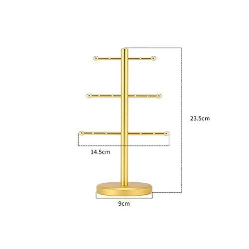 Schmuckständer Aufbewahrungsring Aufbewahrungsbox Multifunktionsspeicher (Metall), 14,5 \u0026 times; 9 \u0026 times; 23.5CM (Farbe: lokales Gold)