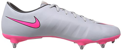 Nike Mercurial Victory V SG Herren Fußballschuhe Grau (Wolf Grey/Hyper Pink-Black-Black 060)