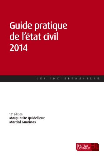 Guide pratique de l'état civil 2014