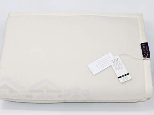 Coccoy coperta matrimoniale in pura lana vergine 100% lambswool di merino australiano disegno con lavorazione jacquard, art. caracter cm. 270x230 maxi peso invernale 450 gr/mq (azzurro 2)