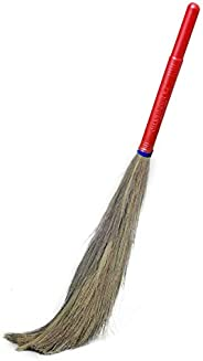 CHAND SURAJ Natural Raver Grass Broom for Floor Cleaning (Full Size, Multicolour)