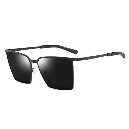 Yiph-Sunglass Sonnenbrillen Mode UV-Schutz Blendung Metallrahmen Ultra Light Travel Beach Outdoor Sports Radfahren Herren/Damen Polarisierte Sonnenbrille (Farbe : Black)