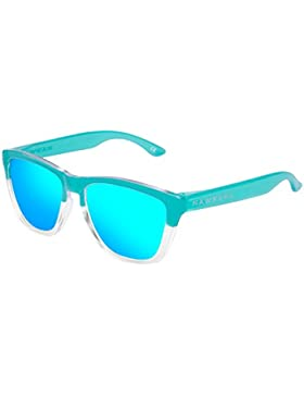 Hawkers Bicolor Tiffany Clear Blue One , Gafas de Sol Unisex, Azul/Blanco