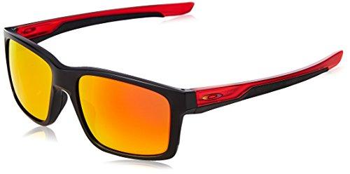 Oakley Herren Mainlink 926426 57 Sonnenbrille, Schwarz (Matte Black/Prizmruby),