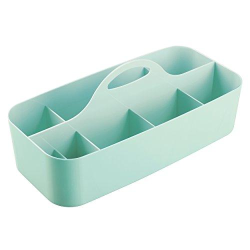 mDesign - Organizador integral para el cubículo de ducha; organiza champú, acondicionador, jabón, lociones, esponjas vegetales - grande - Menta
