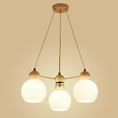 LOFAMI Kreatives Restaurant Kronleuchter 3 Licht Glas Schirm Anhänger Bügeleisen Deckenleuchte Hängende Kaffeehaus Wohnzimmer Dekorative Beleuchtung (Größe : 3 light) -