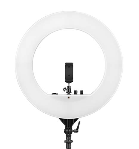 Digitek (DRL-18) 18 inch Professional LED Ring Light for Making Your Videos/Images More Professional, for TIK-tok Videos, YouTube Video Shoot, Best Makeup Shoot, Musically, Instagram & Many More.