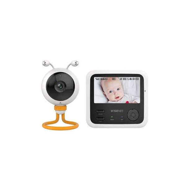 "Wisenet SEW3048 Video Baby Monitor 4.3"" with Eco Flex Fit Digital Camera. Mother&Baby Best Baby Monitor Gold Award 2019. LCD Wide Screen, Fast Video and Sound Response Wisenet Two-way communication enabled so you can talk to, soothe and relax your little one from anywhere in your home Crystal clear night vision allows you to keep an eye on your little one without any worry in crystal clear quality 7 bedtime music and white noises that will help to soothe your little one and keep them relaxed throughout the night 3"