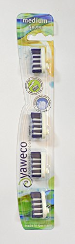 YAWECO Zahnbürsten: Wechselköpfe 4er med. Nylon (1 stk) -