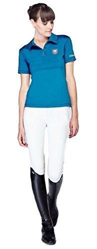 Asmar Equestrian Damen Polo Shirt lagune blau (groß)