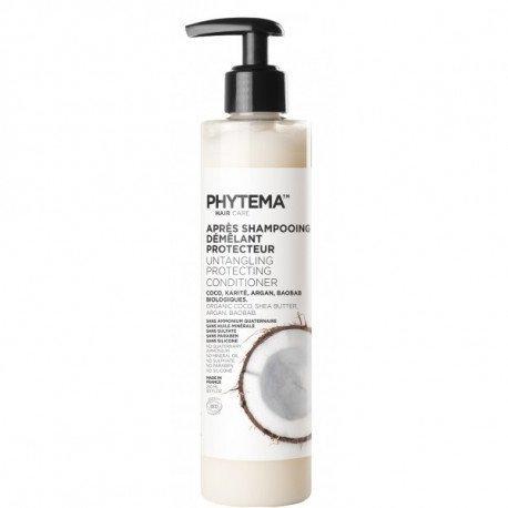 Après-Shampooing Démêlant Protecteur par PHYTEMA HAIRCARE | Bio – sans silicone – lissant | Cheveux lissés et gainés de la racine jusqu'aux pointes sans les alourdir | 250 ml