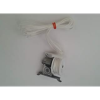 Amazing Drapery Hardware PRE-CORDED High Profile Cord Tilt Control/geared for SQUARE ROD (1, White)