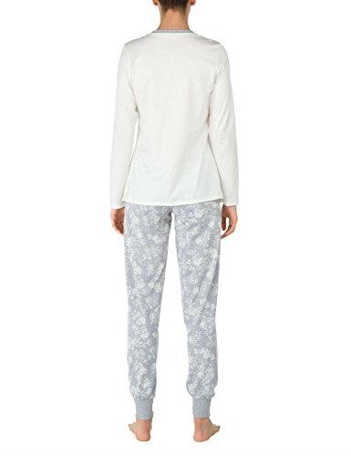 CALIDA Montrose, Ensemble de Pyjama Femme Gris - Gris pierre mélangé (096)