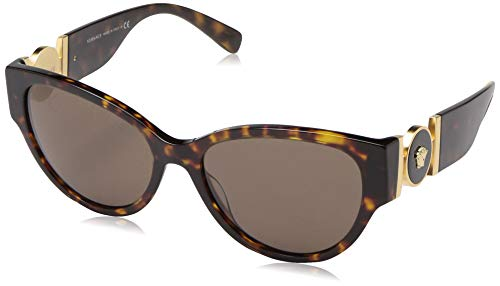 Ray-Ban Damen 0VE4368 Sonnenbrille, Schwarz (Havana), 56.0