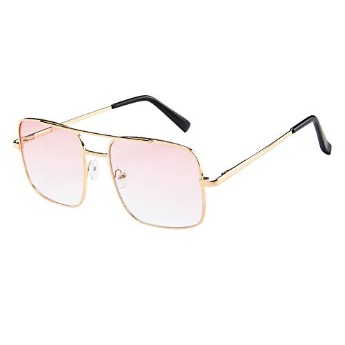 iCerber sonnenbrillen Chic Lässig Einzigartig Frauen Männer Vintage Retro Brille Unisex Fashion Oversize Rahmen Sonnenbrille Eyewear UV 400 ❀❀2019 Neu❀❀(XLMehrfarbig)