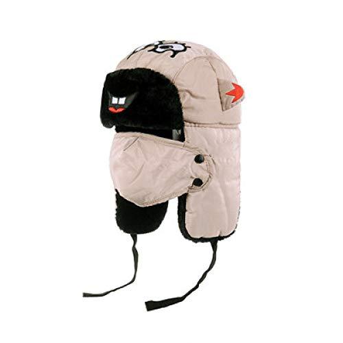 -Mütze Bomberhüte Winter Plus Samt Dicke Winddichte Kopfhörer Hut Lei Feng Hut Pilot Hut,Children's-Khaki ()
