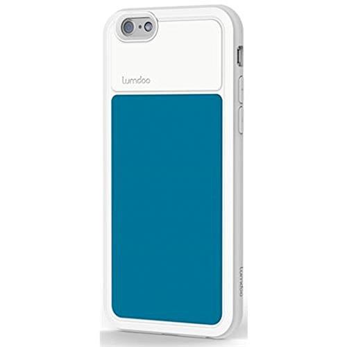Schutzhülle für Apple iPhone 6/ 6S, Apple iPhone 5/5S, Apple iPhone 6 Plus/6+ Tasche Cover Case Bumper Schutz (Apple iPhone 6/6S, Schwarz-Grau) Weiß-Blau