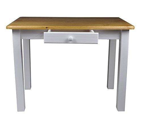 Esstisch mit Schublade Küchentisch Tisch Restaurant Massiv holz Kiefer (70x100, Erle)