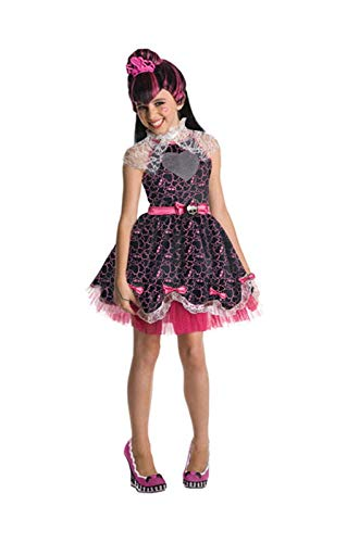 Horror-Shop Kinderkostüm Draculaura Deluxe S (Draculaura Halloween Monster High)
