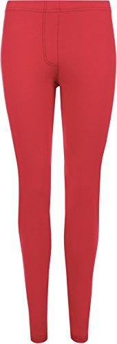 WearAll - Legging de tout son long apparence du jean - Leggings - Femmes - Grandes Tailles 42 à 56 Rouge