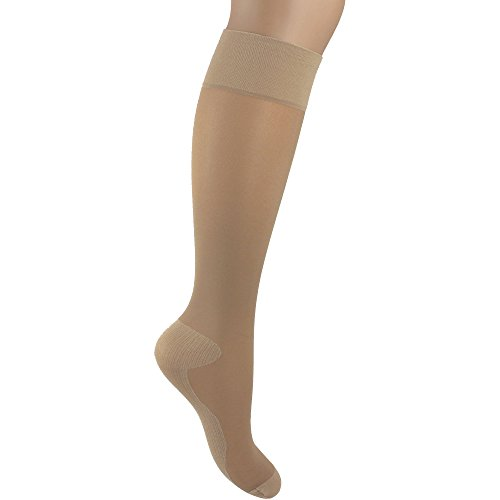 Women's Pretty Legs Silky Smooth Compression Socks (Natural)