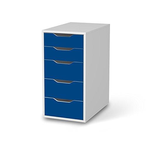 Möbeldekor für IKEA Alex Schreibtisch-5 Schubladen I Möbelgestaltung Bedruckte Klebe-Folie Möbel folieren I kreative Wohnideen Schlafzimmer-Möbel Deko I Farbe Blau 1 -